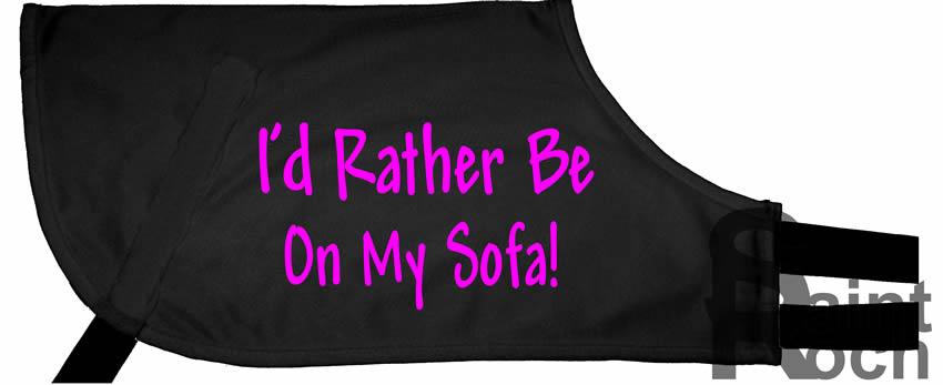 Rather Be On My Sofa! - Greyhound Coat