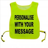 Personalised Printed Yellow tabard for dog Walking