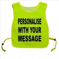 Personalised Printed Yellow tabard for dog Walking