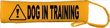 Caution Dog In Training Lead Leash Slip Cover